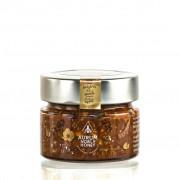Crema de miere cruda poliflora, alune de padure rumenite, pudra de roscove si sare de mare 150g