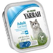 Bucati de peste cu spirulina Bio pentru pisici, 100g, Yarrah