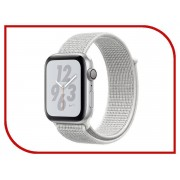 Nike Умные часы APPLE Watch Nike+ Series 4 40mm Silver Aluminium Case with Summit White Nike Sport Loop MU7F2RU/A