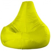 Ink Craft Yellow Hi-Back Gamer Bean Bag Chair - XXXL