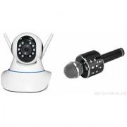 Zemini Wifi CCTV Camera and WS 858 Microphone Karake With Bluetooth Speaker for SAMSUNG GALAXY CORE MINI 4 G(Wifi CCTV Camera with night vision |WS 858 Microphone Karake With Bluetooth Speaker)
