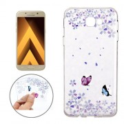 For Samsung Galaxy A5 (2017) / A520 Colorful Butterflies Pattern Soft TPU Protective Back Cover Case