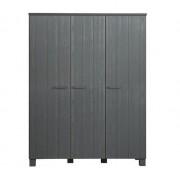 3 deurs kast Lamu - staalgrijs