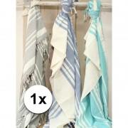 Merkloos Hamam handdoek XL zeegroen 200 x 240 cm - Strandlakens