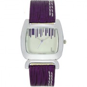 The Shopoholic Analog Square Shape White Dial With Blue Leather Belt Watches For Women-Watches For Girls In Fashion