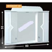 Guido Gyémánt 80 tükrös fürdőszobaszekrény