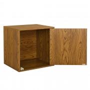 [en.casa]® Variabilní designový systém s dvířky - skříňky / poličky - 45x45x40 cm - imitace ořechového dřeva