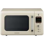 Cuptor cu microunde Daewoo Retro KOR-6LBRC, 20 l, 800 W, Digital, Bej