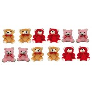 Grabdeal Small Teddy Bears Set of 12 Pcs for Girls, Kids, Boys, Friends, Best Friend, Birthday - Soft Toys10