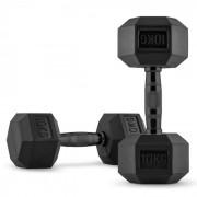 Capital Sports Hexbell Black Dumbbell Kurzhantel Paar 2 x 10 kg