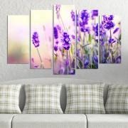 Декоративeн панел за стена с горски цветя в синьо Vivid Home