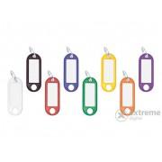 Set brelocuri cu eticheta pentru chei Wedo 8 culori diferite, 100 buc.