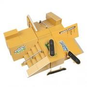 WayInå¨ 8pcs Skate Park Kit Ramp Parts for Tech Deck Fingerboard Mini Finger Skateboard Fingerboards Ultimate Parks