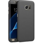Husa Samsung Galaxy S7 Edge FullBody Elegance Luxury Black acoperire completa 360 grade cu folie de protectie gratis