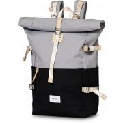 Sandqvist Bernt Cordura Eco Made Roll Top Backpack Grey/Black