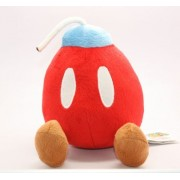 "Super Mario Bros Plush 7.5"" / 19cm Bob-Omb Bomb Red Doll Stuffed Animals Figure Soft Anime Collection Toy"