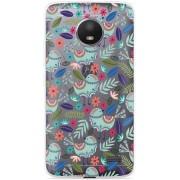 Motorola Moto E4 Hoesje Blue bird