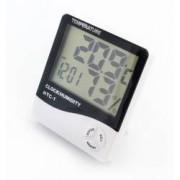 Statie Meteo 5-in-1 Wireless cu Afisaj LCD Ceas cu Alarma Temperatura Umiditate Data Culoare Alb
