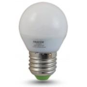LED-es fényforrás, ( kisgömb alakú ) 5W-os teljesítményű, E27 foglalattal, 2700K-es színhőmérsékletü, SMD LED ( 350 lm ) Tracon ( LG455W )