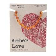 Baltic Amber Children's Bracelet - Cognac Love 14cm