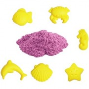 UNTOLD 1KG MAGIC SAND COLORFUL SAND WITH 6 PIECE MOLDS - PINK COLOR