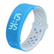 W9 inteligente banda de la muneca del deporte brazalete de la actividad podometro Tracker - azul