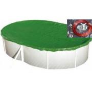 Védőtakaró ovális téli takaró 7,2 x 3,6m medencéhez