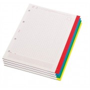 Gyűrűs könyv betét, A5, kockás, 60 lap, PANTAPLAST Gemini, fehér 60 lap/csomag