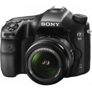 Aparat Foto D-SLR Sony Alpha A68K, Obiectiv 18-55mm, Filmare Full HD, 24.2 MP (Negru)