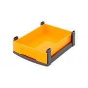 Flexeo-Systemmöbel Flexeo Box, schwarzer Rahmen, klein