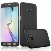 Husa Samsung Galaxy S6 Edge FullBody Elegance Luxury Black acoperire completa 360 grade cu folie de protectie gratis