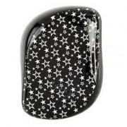 Cosmix Stores Tangle Remover Compact Styler Detangling Brush (Black White Stars Pattern)