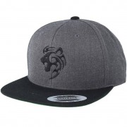 Tattoo Collective Keps Tribal Lion Charcoal/Black Snapback - Tattoo Collective - Grå Snapback