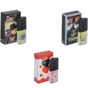 Skyedventures Set of 3 Devdas-Titanic-Younge Heart Red Perfume