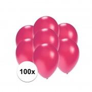 Shoppartners Kleine ballonnen roze metallic 100 stuks