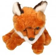 Geen Pluche zittende vos knuffel 21 cm