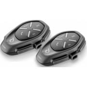 Sistem de comunicare moto Interphone Link Dual Pack FM Conferinta de pana la 2 rideri simultan distanta 300m