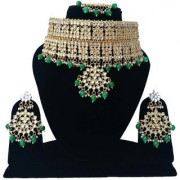 Finekraft Designer Gold Plated Bridal Bollywood Wedding Style Kundan Necklace Set With Earrings Manng Tikka Jewelry