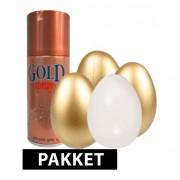 Shoppartners Gouden eieren spreekwoord pakket 10 cm 4 stuks