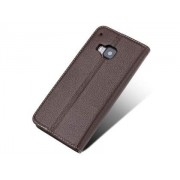 Premium Leather Wallet Case for HTC One M9 - HTC Leather Wallet Case (Brown)