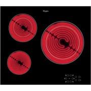 Стъклокерамичен плот за вграждане, Whirlpool AKT8030/NE, 3 нагревателни зони