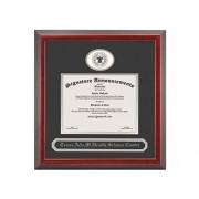 Signature Announcements Texas-a&M ScienceCenter-Schoolof Public-Health Marco de graduación de doctorado con Sello de Papel de Aluminio esculpido y Nombre, 50,8 x 50,8 cm, Color Cereza