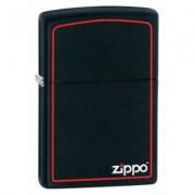 218ZB Zippo öngyújtó, matt fekete színben logóval, gravírozható