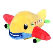 "BUCKLE TOY ""Bolt"" Airplane - Toddler Early Learning Basic Life Skills Childrens Plush Travel Activity"