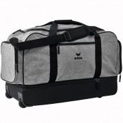 erima Sporttasche Trolley - mit Bodenfach - grau melange/schwarz | XL