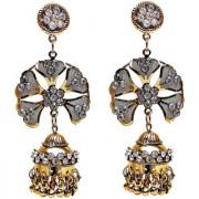 Lucky Jewellery Golden Partywear Stone Earring
