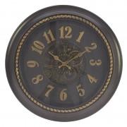 Ceas decor perete Dark Brown diametru 35 cm