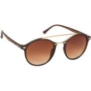 Arzonai Robinson Brown MA-022-S2 Unisex Round Sunglasses