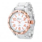 J. Goodin Metal Fashion Wrist Watch Silver/Rose TW-20261