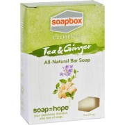 SoapBox Bar Soap - Elements - Tea and Ginger - 5 oz